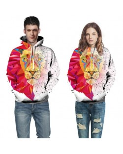 3D Lion Head Printing High Fashion Hoodie