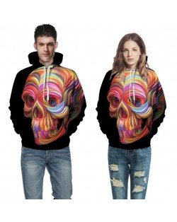 3D Colorful Skull Printing High Fashion Hoodie