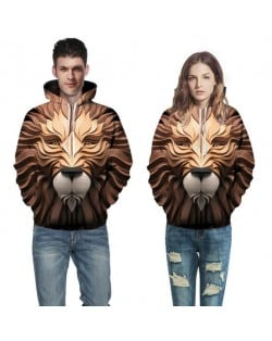 3D Lion Printing High Fashion Hoodie