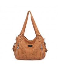 (21 Colors Available) Casual Fashion Lady PU Shoulder Bag/ Tote Bag