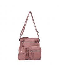 (13 Colors Available) High Fashion Women Top Belt Crossbody PU Tote Bag/ Shoulder Bag