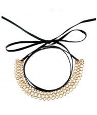 Weaving Style Alloy Wire PU High Fashion Necklet