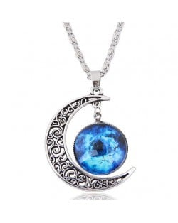 Hollow Moon and Sun High Fashion Costume Necklace - Pattern 4