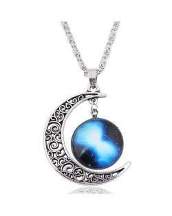 Hollow Moon and Sun High Fashion Costume Necklace - Pattern 8