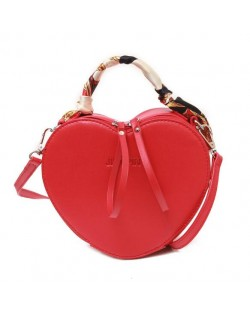 53c68ebd84 (2 Colors Available) Peach Heart Shape Design Women Handbag  Shoulder Bag
