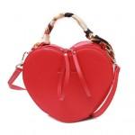 (2 Colors Available) Peach Heart Shape Design Women Handbag/ Shoulder Bag