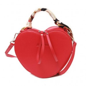 (2 Colors Available) Peach Heart Shape Design Women Handbag/ Shoulder Bag