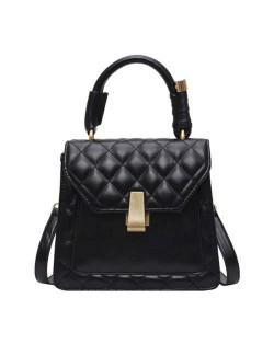 (4 Colors Available) Lozenge Stitching Spring and Summer Fashion Handbag/ Shoulder Bag