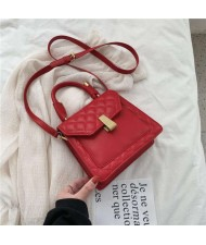 (4 Colors Available) Lozenge Stitching Spring and Summer Fashion Handbag/ Shoulder Bag