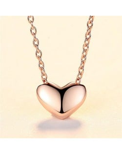 Sweet Heart Design Rose Gold Plated 925 Sterling Silver Necklace