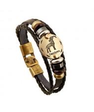 12 Constellation Theme Fashion Leather Bracelet - Capricorn