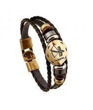 12 Constellation Theme Fashion Leather Bracelet - Sagittarius