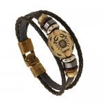 12 Constellation Theme Fashion Leather Bracelet - Cancer