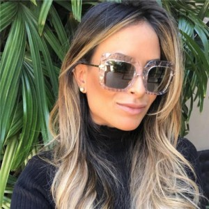 5 Colors Available Concave-convex Texture Bold Thick Frame Design High Fashion Women Sunglasses