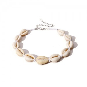 Natural Seashell Beach Fashion Short Costume Necklace - White