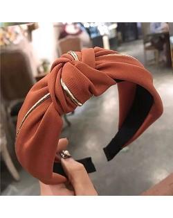 Graceful Cloth Bowknot Korean Fashion Women Hair Hoop - Coffee