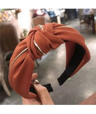 Graceful Cloth Bowknot Korean Fashion Women Hair Hoop - Coffee