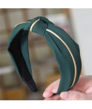 Graceful Cloth Bowknot Korean Fashion Women Hair Hoop - Green