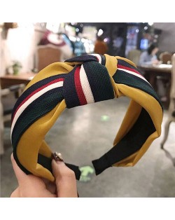Contrast Colors Combination Design Cloth Bowknot Women Hair Hoop - Pattern 2