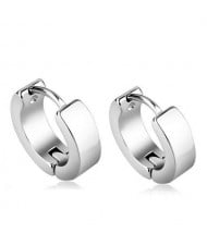 High Fashion Titanium Steel Cool Style Ear Clips - Silver