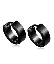 High Fashion Titanium Steel Cool Style Ear Clips - Black