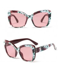 6 Colors Available Summer Fashion Bold Frame Cat Eye Women Sunglasses