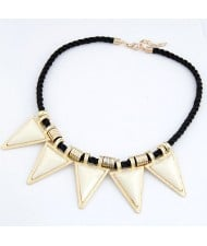 White Fashion Resin Triangles Pendants Necklace