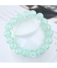 Sweet Fashion Floral Glass Ball Women Bracelet - Green