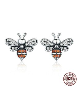 Bees Design 925 Sterling Silver Earrings