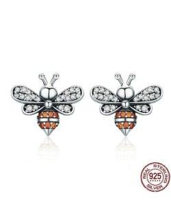 Bees Design 925 Sterling Silver Earrings