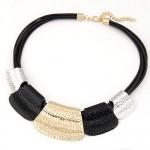 Tribal Coarse Texture Design Bold Fashion Women Necklace