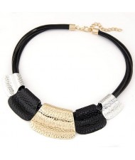 Tribal Coarse Texture Design Bold Fashion Women Necklace