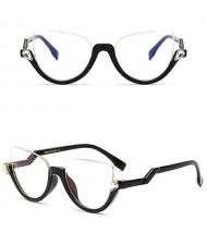 9 Colors Available Half Frame Vintage Design High Fashion Sunglasses