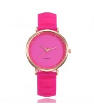 8 Colors Available Candy Color Concise Style Silicone Wrist Watch