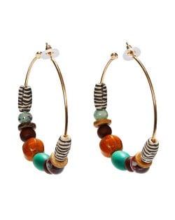 Assorted Beads Combo Design Bohemian Fashion Earrings