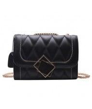 (2 Colors Available) Lattice Stitching Elegant Lady Korean Fashion Handbag/ Shoulder Bag