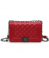(4 Colors Available) Vintage Lattice Stitching Design Chain Fashion Women Handbag/ Shoulder Bag