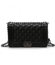 (4 Colors Available) Vintage Lattice Stitching Design Chain Fashion Women Handbag/ Shoulder Bag