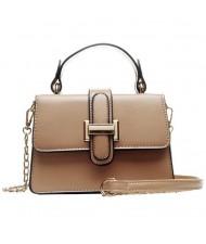 (4 Colors Available) Solid Color Classic Buckle Design High Fashion Lady Handbag/ Shoulder Bag