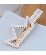 Artificial Pearl Fashion Women Hair Barrette - Crown