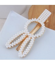 Artificial Pearl Fashion Women Hair Barrette - Rabbit