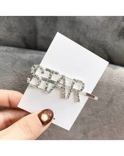 Shining Korean Fashion Alphabets Hair Clip - Star