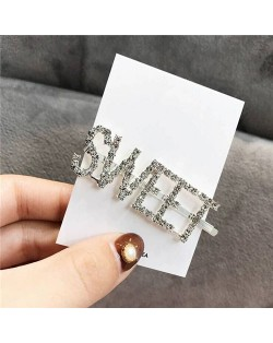 Shining Korean Fashion Alphabets Hair Clip - Sweet