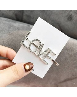 Shining Korean Fashion Alphabets Hair Clip - Love