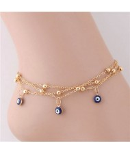Eyeball Pendants Multi-layer Chain Design Fashion Women Anklet