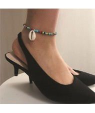 Seashell Pendant Multicolor Beads Fashion Women Anklet