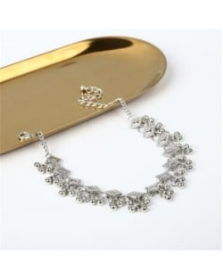 Square and Beads Tassel Design Women Fashion Anklet