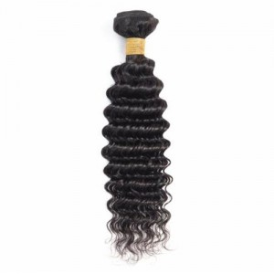 1 Bundle Deep Wave Virgin Human Hair Weft/ Extensions