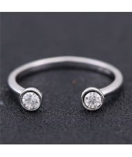 Twin Gems Inlaid Graceful Fashion Women Ring