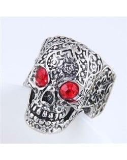 Red Eye Skull Punk Fashion Vintage Ring